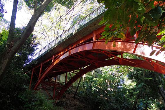 渓谷に架かる橋
